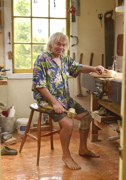 Allan Gale in his workshop