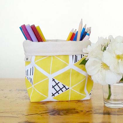 EmpireEcoDesigns  mini bucket in yellow designed by Pip