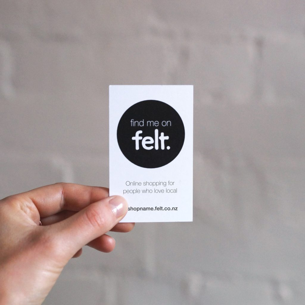 Find me on Felt card