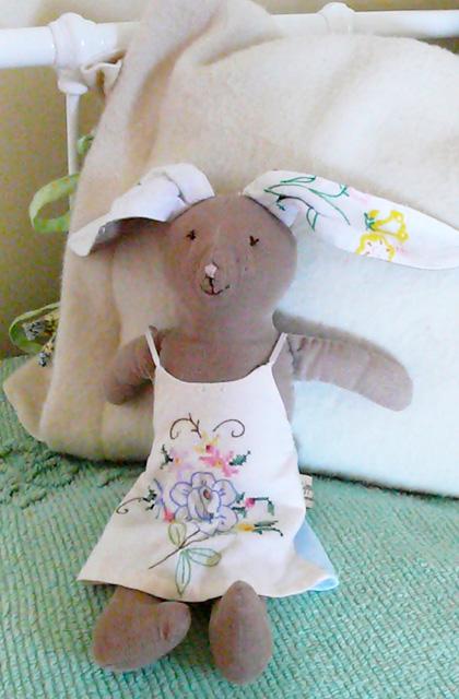 Vintage Bunny Doll by Zippitydoodah