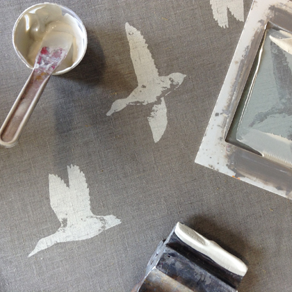 Printing duck tea towels