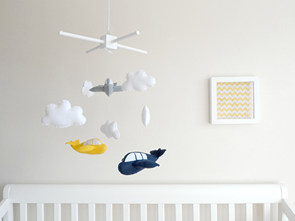 Aeroplane Baby Mobile by Maisie Moo