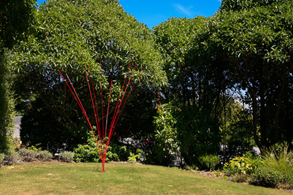 Windsticks in Stephens garden