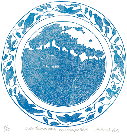 Waiotemarama Willow Pattern print by Allan Gale