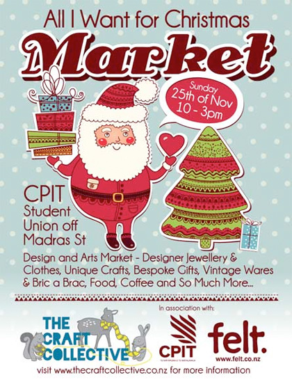 All I Want for Christmas Market, Sunday 25 November, Christchurch