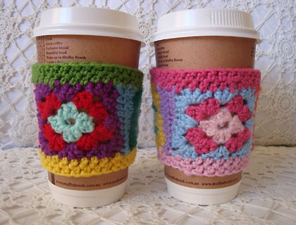 Win a custom coloured granny square cup cosy from Alexandra Mackenzie!