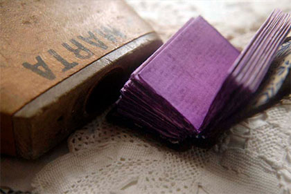 The Little Purple Artist miniature book by Bibliographica