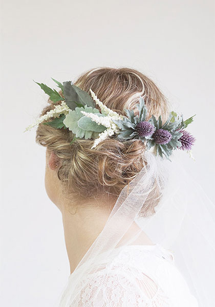 Thistle flower crown by Blossom Road