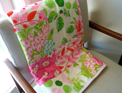 Lap Quilt by Cat Taylor featuring Heather Bailey, Nicey Jane fabrics