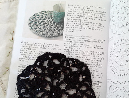 Interior spread from Crochet Workshop by Erika Knight