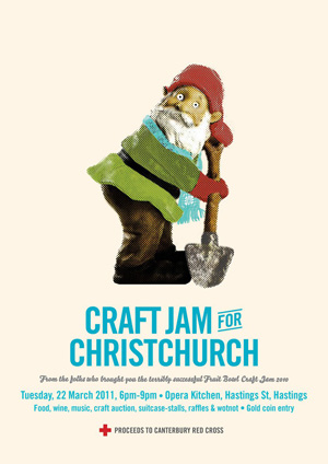 Craft Jam for Christchurch, Tuesday 22 March, Hastings