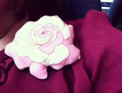 Quilted Fabric Brooch by Croutons