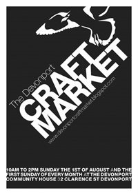Devonport Craft Market, Sunday 1 August