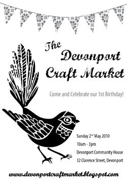 Devonport Craft Market, Sunday 2 May