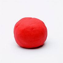 Natural Play Dough – Candy Red by Dough Queen