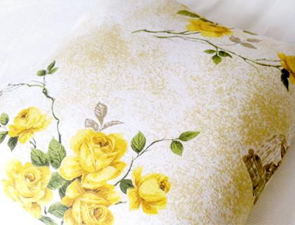 Vintage barkcloth/wool large cushion by Emma Makes