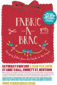 Fabric-a-brac poster