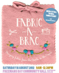 Fabric-a-brac, 9am–12.30pm Saturday 18 August, Auckland