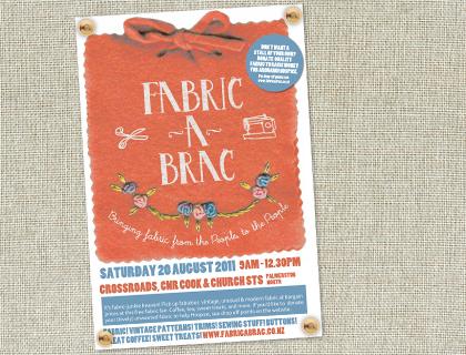 Fabric-a-brac, Saturday 20 August, Palmerston North