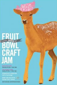 Poster for Fruit Bowl Craft Jam, Saturday 3 and Sunday 4 December, Hastings