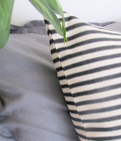 Beautiful Ticking Cushion Cover by Francais