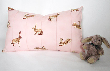 Pink Rabbit cushion cover by Piper and Fox