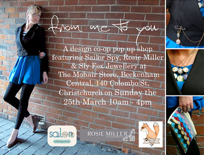 From Me To You, 10am–4pm Sunday 25 March, Christchurch
