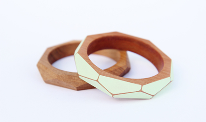 ghdesign geometric wooden bangles