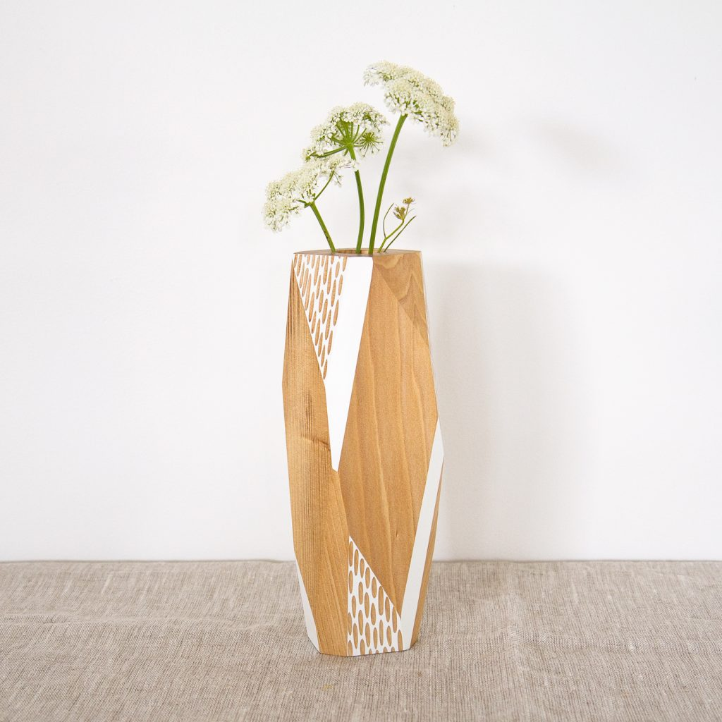 Faceted Kauri Vase by Gwyneth Hulse Design