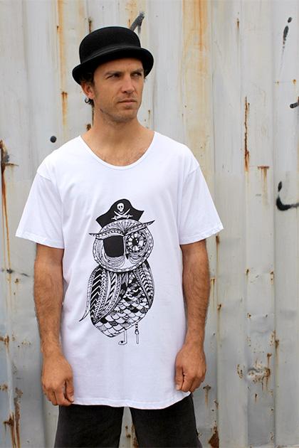 Ze Pirate Owl Tee by Zenipa