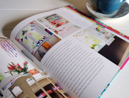 Inside spread from Homespun Style by Selina Lake