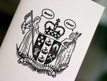 The Nu Zillund Coat of Arms by Into the White Press