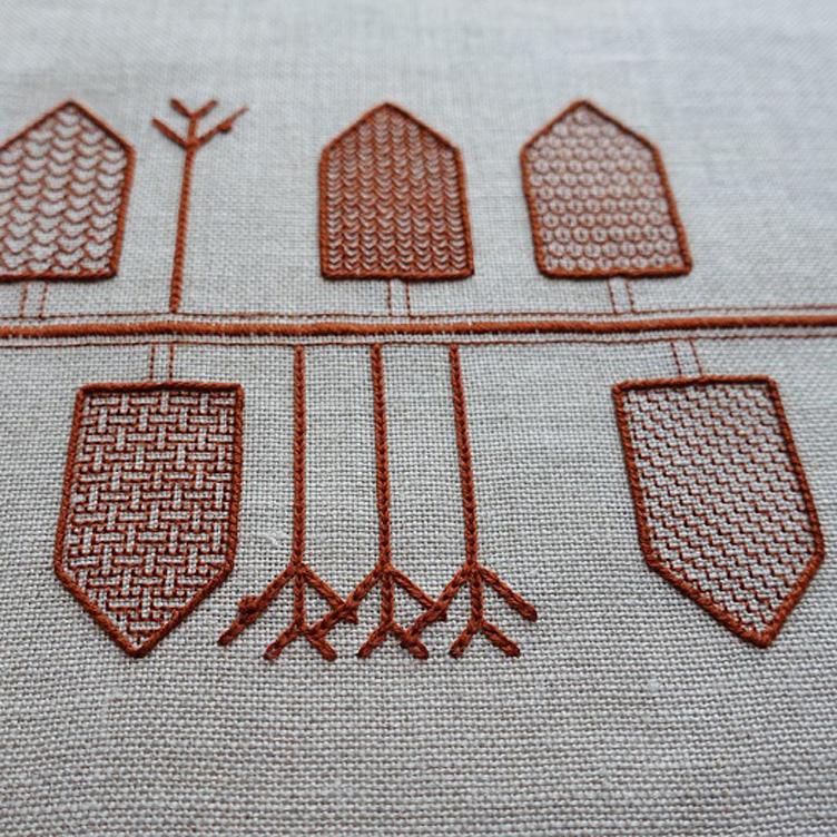 Contemporary stitchwork