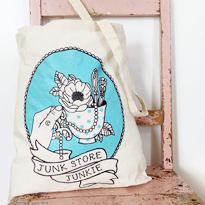 Junk Store Junkie - Tote Bag by Odd One Out