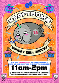 Kraftbomb's 2nd birthday! Sunday 29 August, Auckland