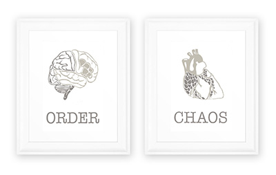 Order and Chaos prints by Lately Loving – a chance to win with every purchase at the Fair!