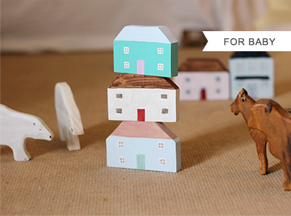 Toy wooden house set by Dean's Workshop