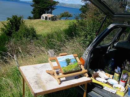 lizabbottart plein air painting seacliff blog