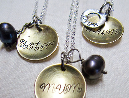 Personalised necklaces by Lovebird