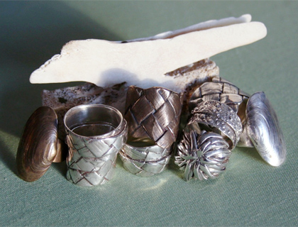 Sterling Silver Rings by Maggie Churcher