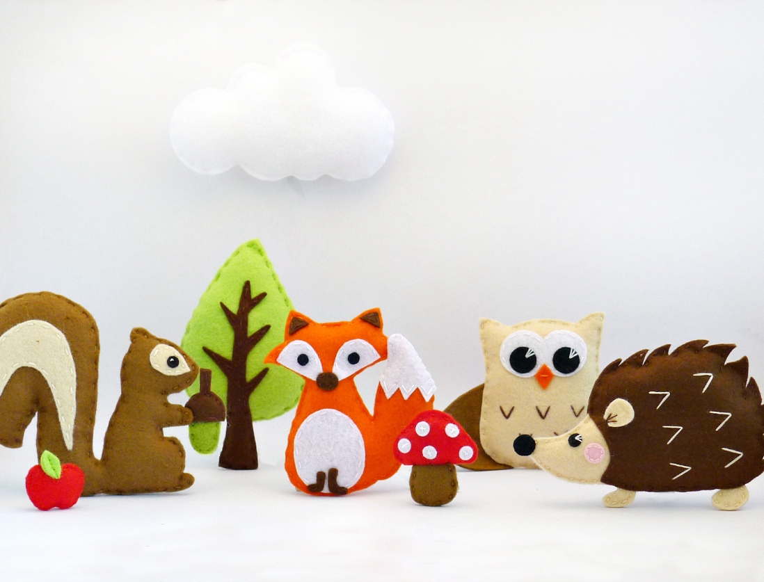 Sewing Pattern - Woodland Animal Set by Maisie Moo