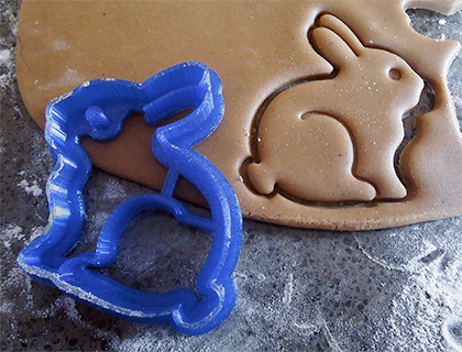 3D Printed Bunny Cookie Cutter by Making It