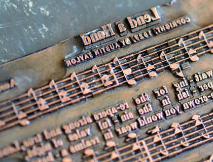 Lend a Hand, from Gillian's collection of antique copper printing plates
