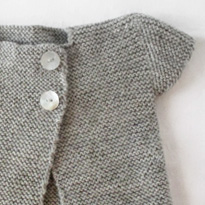 Capped Sleeve Cardigan in Grey Marl by Mum of Twins