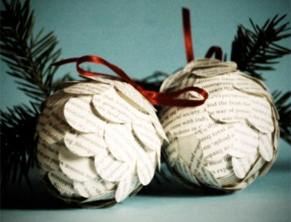 Paper pinecone decorations from Natale