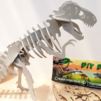 D.I.Y Dino 3D wooden T Rex by Crafty Devil
