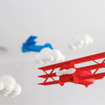 High Flyer Bi-Planes Mobile by TriKat Design