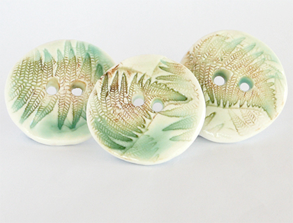 Porcelain buttons, inspired by nature