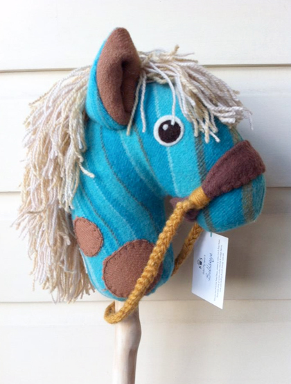 Bullseye, a one-of-a-kind heirloom hobby horse by Nobel Steed