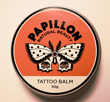 Tattoo balm by Papillon Natural Beauty